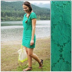 Xhiliration Green Lace Mini Dress XXL